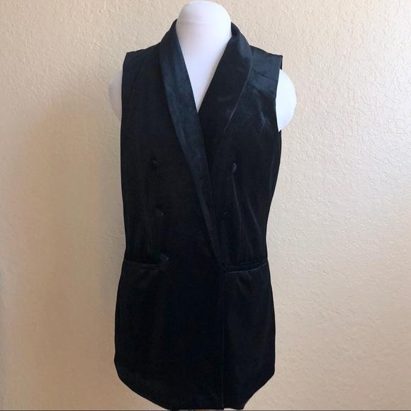 08348127d08 a new day Other - A New Day Target black velvet long vest jacket